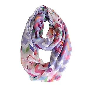 modadorn 2014 Spring Multicolor Chevron Infinity Scarf (Lavender)