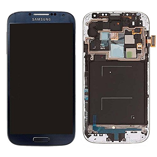Black Mist Complete Lcd+Digitizer Assembly With Frame For Samsung Galaxy S4 I545