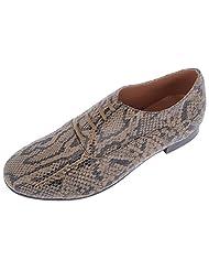 Claude Lorrain Womens Double Foil Leather Closed Shoes
