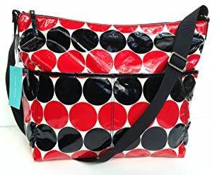 Kate Spade Daycation Serena Baby Bag Red/Black Dots smdebdot by Kate Spade