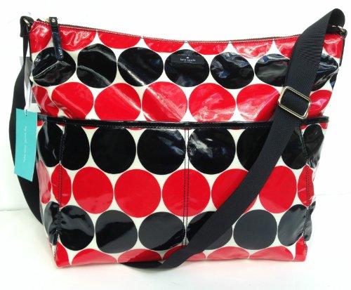 Kate Spade Daycation Serena Baby Bag Red/Black Dots Smdebdot front-46688