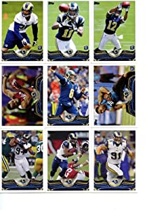 St. Louis Rams 2013 Topps NFL Football Complete Hand Collated Regular Issue 15 Card... by Strictly Mint Card Co.