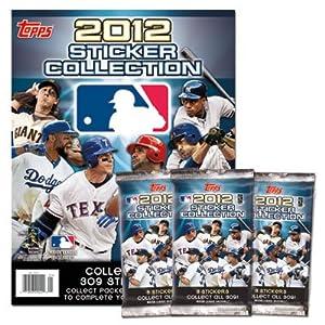 2012 Topps MLB Sticker Collection Starter Kit (Baseball Card Stickers) Album + 12 Packs