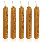NO1 5Pcs Decor Sealing Seal Wax Sticks Wicks For Postable Gold