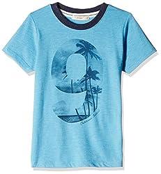 Fox Baby Boys' T-Shirt  (Turquoise Melange_12-18 months_327584)