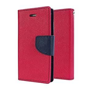 STAPNA Luxury Mercury Diary Wallet Style Flip Cover Case for Samsung Galaxy J7 -Pink