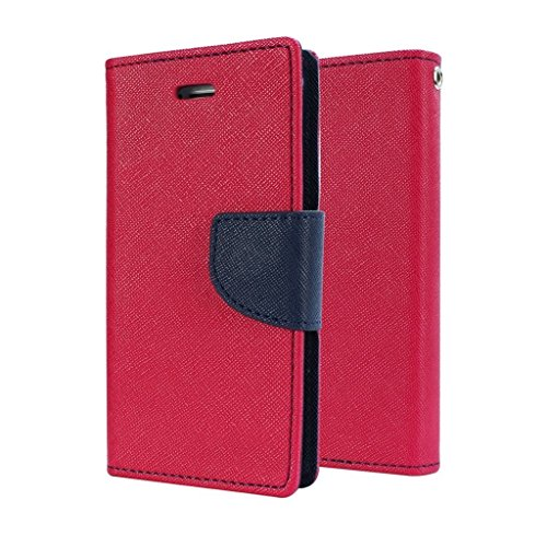 Acase Luxury Mercury Diary Wallet Style Flip Case Cover For Samsung Galaxy S Duos 2 S7582 -(Pink)  available at amazon for Rs.245