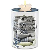 Candidly Lol By Pavilion 4 Inch Tall Tea Light Candle Holder With Candle, Lifes A Beach