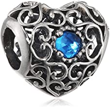 Pandora 791784NLB December Signature Heart London Blue Charm