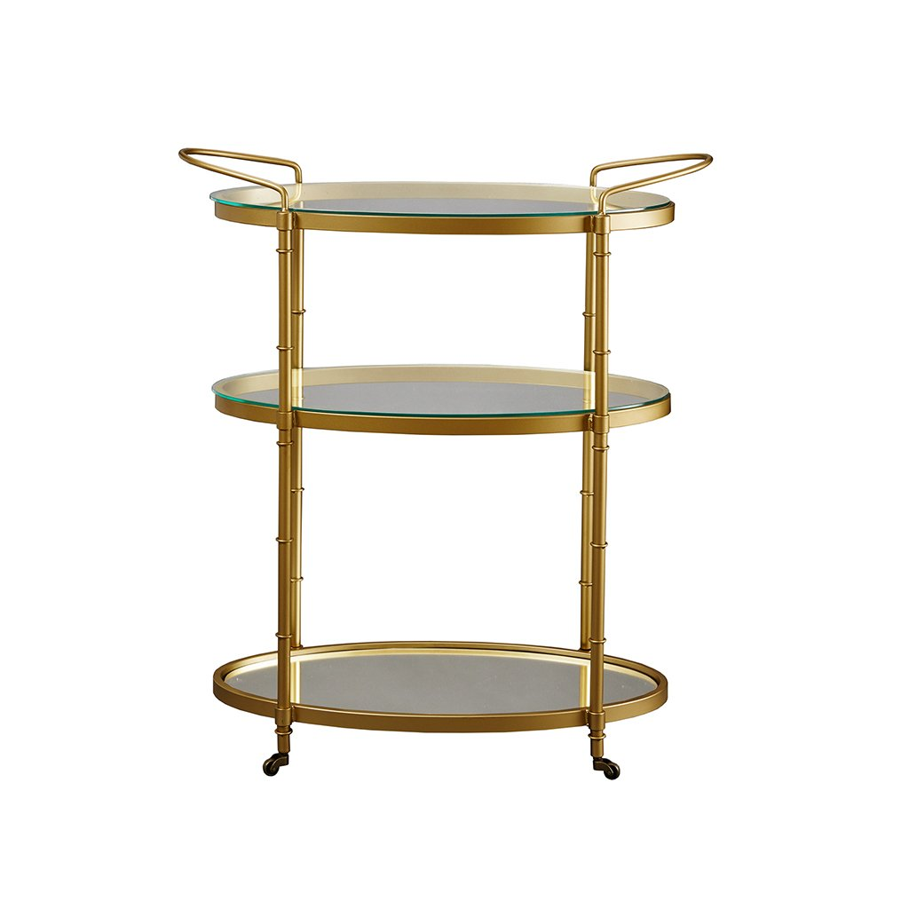 Madison Park Signature Lauren Bar Cart Antique Gold See below 1