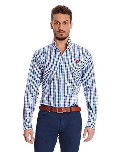 William Hunt Camisa Hombre Pyrite Azul Marino