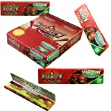 One Box = 24 x Strawberry Flavour Juicy Jay jay's KING Size Slim Juicy Flavoured Cigarette Rolling Paper / Leaves