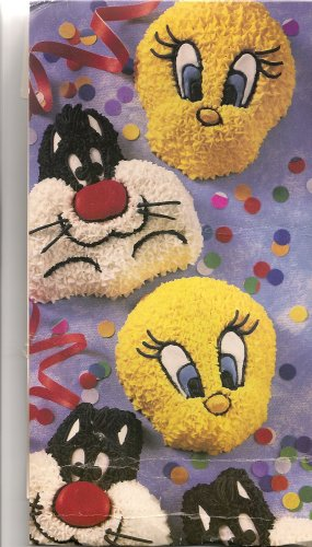 Wilton Cake Pan: Sylvester and Tweety Mini Treats Cupcake / Muffin / Candy Mold / Pan (2105-8471, 1994) ~ 6 Single Cavities (Tweety Cake Pan compare prices)