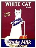インテリアポスター額付『White Cat』Baily 猫