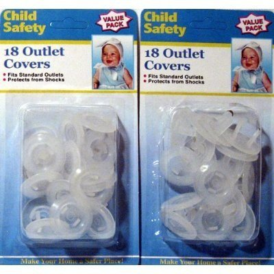 36 Lot Electrical Outlet Covers Child Proof Safety New by OTC