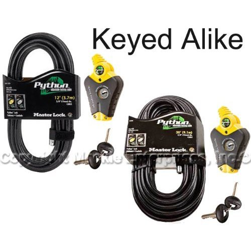 Master Lock – Python Adjustable Cable Locks #8413KA2-12-30