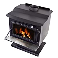 Pleasant Hearth WS-3029 2200 sq. ft. Wood Stove with Pedestal Base, Large