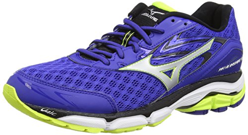 Mizuno Wave Inspire Scarpe da corsa, Uomo, Blu (Blue (Surf the Web/Silver/Safety Yellow)),43