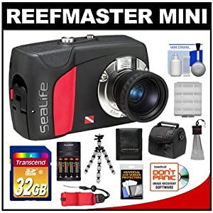 SeaLife ReefMaster Mini Digital Underwater Dive Camera (Waterproof to 200 Feet) with 32GB Card + Case + Batteries & Charger + Tripod + Accessory Kit
