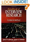 Handbook of Interview Research: Context & Method