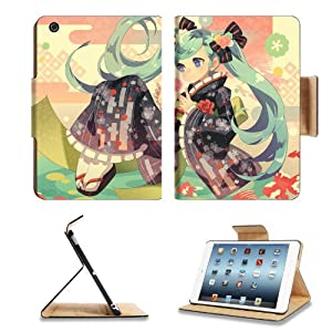 Vocaloid Hatsune Miku The Kimono Girl Anime Comic Game ACG Apple Ipad Mini Flip Case Stand Smart Magnetic Cover Open Ports Customized Made to Order Support Ready Premium Deluxe Pu Leather 13 1/16 Inch (333mm) X 8 Inch (205mm) X 11/16 Inch (17mm) Woocoo Ipad Mini Professional Ipadmini Cases Ipad_mini Accessories Retina Display Graphic Background Covers Designed Model Folio Sleeve HD Template Designed Wallpaper Photo Jacket Wifi 16gb 32gb 64gb Luxury Protector