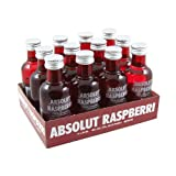 Absolut Raspberri (Raspberry) Vodka 5cl Miniature - 12 Pack