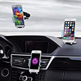 Car Phone Holder, Golden Colours Super 3 in 1 Universal Cell Phone Car Cradle & Mount - Fits iPhone & Other Popular Brands - 3 Mounting Options - 360 Degree Rotation - Perfect Gift For a Great Price.