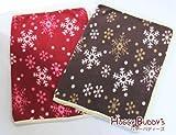スノーフレーク(雪の結晶)のあったかペットブランケット60x40cm ブラウン ペット用毛布