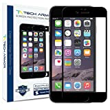 Tech Armor Apple iPhone 6 Plus Premium Edge to Edge HD Clear Ballistic Glass Screen Protector (Black Edge) - Protect Your Screen from Scratches and Drops - Maximize Your Resale Value - 99.99% Clarity and Touchscreen Accuracy