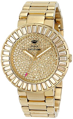 Juicy Couture Women's 1901178 Grove Analog Display Quartz Gold Watch