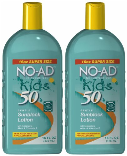 No-Ad Kids Sunscreen Lotion Spf 50 16 oz (Pack of 2)
