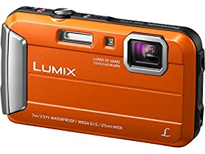 Panasonic DMC-TS25D Waterproof Digital Camera with 2.7-Inch LCD (Orange)