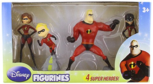 Beverly Hills Teddy Bear Company Incredibles Figure, 4-Pack - 1