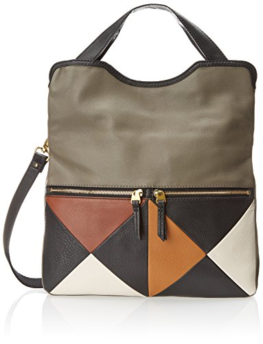 Fossil Erin Multi Colorblock Tote Cross Body Bag