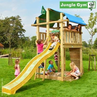 Jungle Gym Spielturm FORT mit Rutsche - Gelb