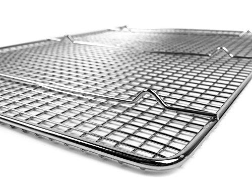 goson bakeware cooling baking racks 10in by 18in cross wire rack baking pan baking sheet. Black Bedroom Furniture Sets. Home Design Ideas