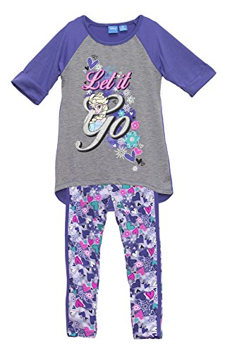 (22831NMWM) Frozen Big Girls Tunic Set in Purple/Green Size: S (6/6X)