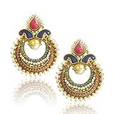 Adiva Copper Dangle & Drop Women Multi-Colour