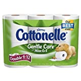 Kleenex Cottonelle Toilet Paper Gentle Care with Aloe & Vitamin E 6 Ct