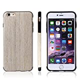Iphone 6s Case, Jin Li [Soft ] Series] - Natural Pliant Processed Wood Back Cover for Iphone 6s & Iphone 6s Case , Ultra Slim and Original Fit with Rubber Bumper (Nordic walnut)