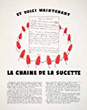 1953 Ad Pierrot Gourmand Sucette Sucker Lollipop Chain Letter Children's Game - Original Print Ad