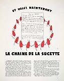 1953 Ad Pierrot Gourmand Sucette Sucker Lollipop Chain Letter Children's Game - Original Print Ad