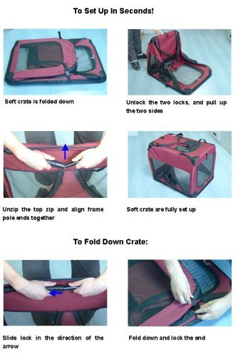 Maroon Pet Cat Dog Soft Crate/Carrier for Travel, Indoor and Outdoor *Small* L20xW14xH14 ollin professional кондиционер бивалентный bivalent conditioner bionika 200мл