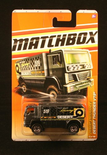 DESERT THUNDER * BLACK * Desert Endurance Series (#10 of 11) MATCHBOX 2010 Basic Die-Cast Vehicle (#93 of 100) - 1