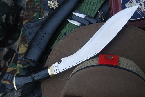 Authentic Service No.1 Kukri - British Gurkha Army Issue Khukuri Knife - Hand Forged Blade in Nepal