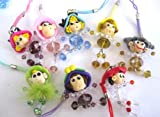 1 Cute Resin Baby Doll Crystal Cellphone / Camera Charm - Random Color
