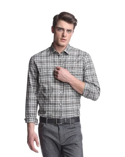 John Varvatos Collection Men's Slim Fit Shirt with Split Yoke