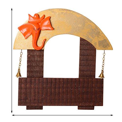 Ecraftindia Wooden Lord Ganesha Home Design Name Plate