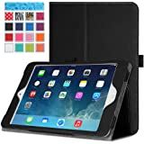 MoKo Apple iPad Mini 3, 2 and 1 Case - Folding Cover Case for Mini3 (2014 edition with Touch ID), Mini2 (2013 model with Retina Display) and Mini (2012 1st gen), BLACK