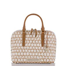 Vivian Dome Satchel<br>Bora White